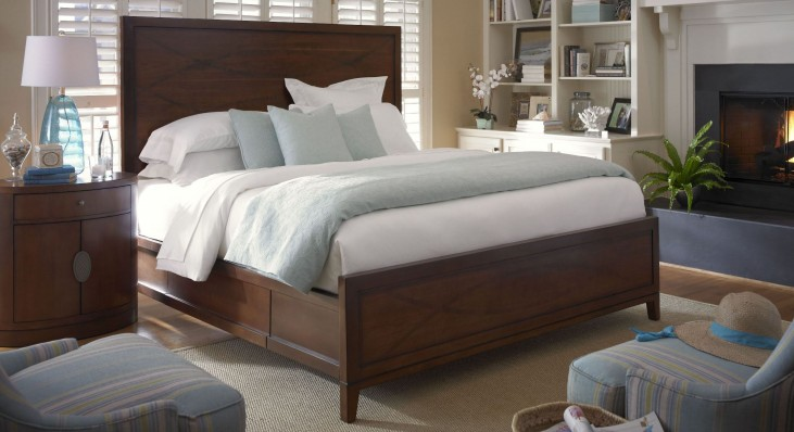Claire de Lune Toasted Nutmeg Single Drawer Panel Storage Bedroom Set