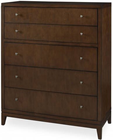 Claire de Lune Toasted Nutmeg 5 Drawer Chest