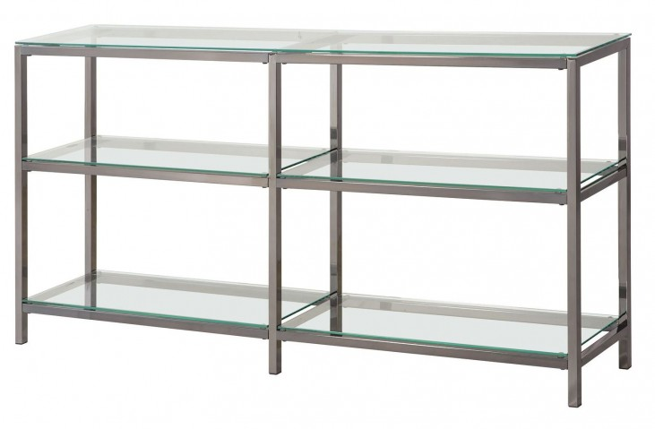 801018 Nickel & Glass Bookcase