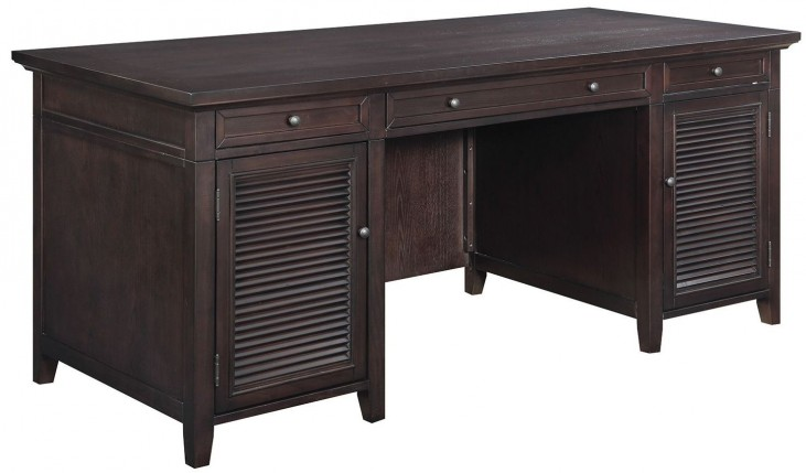 Dark Brown 3 Drawer Desk