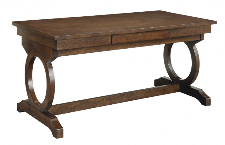 Enedina Brown Transitional Desk