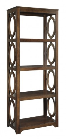 Enedina Brown Transitional Bookcase