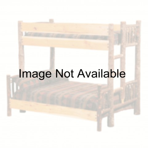 Hickory Ladder Left Twin Over Twin Bunk Bed With Rustic Maple Rails
