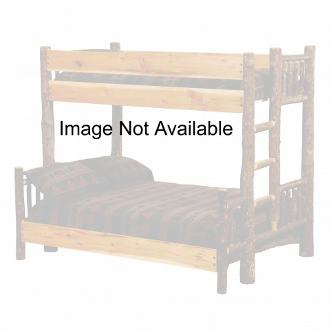 Hickory Ladder Left Full Over Twin Bunk Bed With Rustic Maple Rails