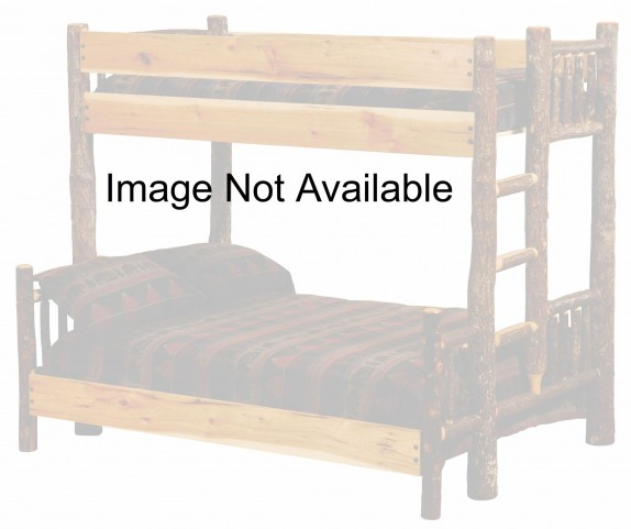 Hickory Ladder Left Full Over Full Bunk Bed With Hickory Rails