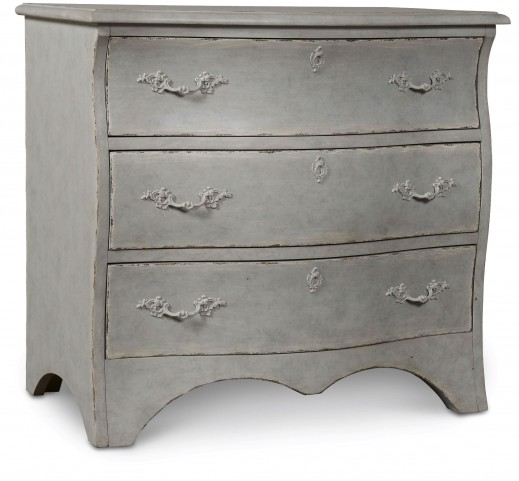 The Foundry Vintage Blue Feathered Accent Chest
