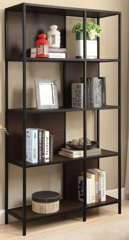 "40"" Black and Dark Brown Bookcase"