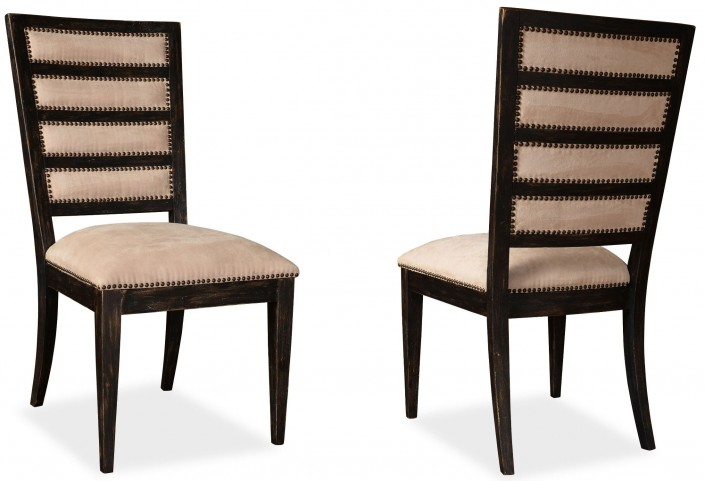 The Foundry Cafe York Paint Black Upholstered Side Chair Set of 2