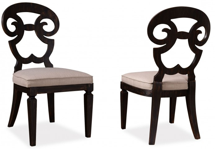 The Foundry Cafe Selway Paint Black Side Chair Set of 2