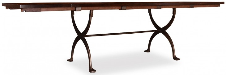 The Foundry Cafe Jameson Cherry Extendable Trestle Dining Table