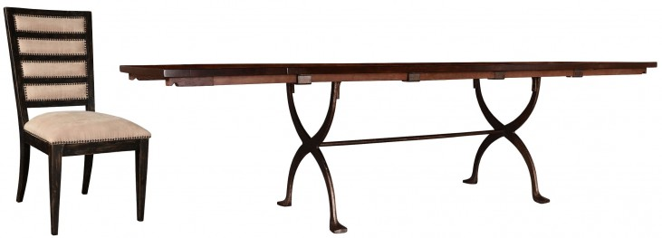 The Foundry Cafe Jameson Extendable Trestle Dining Room Set