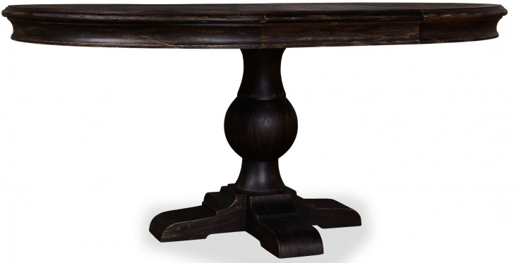 The Foundry Cafe Foley Paint Black Round Dining Table