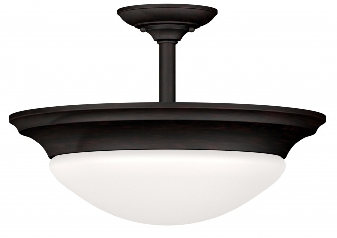 Dickens Oil Rubbed Bronze 2 Light Semi-Flush