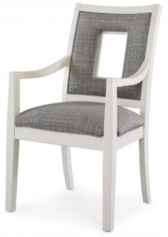 Open Seating White Naomi Arm Chair
