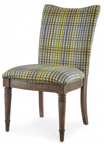 Open Seating Grey Oak Kate Plaid Side Chair