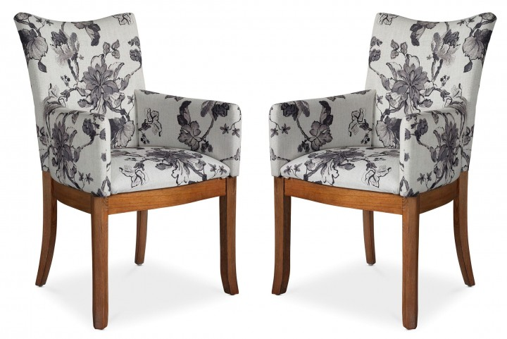 Sophisticate Floral Arm Chair Set of 2