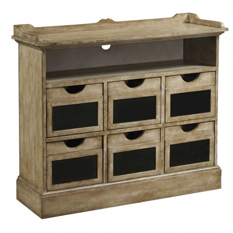 806057 Aged Rustic Accent Chest