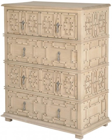 Bella Antique Sand Morocco Storage High Chest