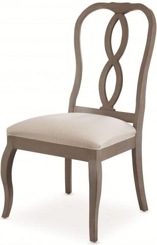 White Peony Mist Grey Fern Side Chair