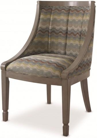 White Peony Mist Grey Flora Side Chair