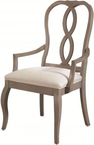 White Peony Mist Grey Fern Arm Chair