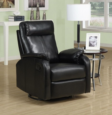 Black Retractable Swivel Rocker Recliner