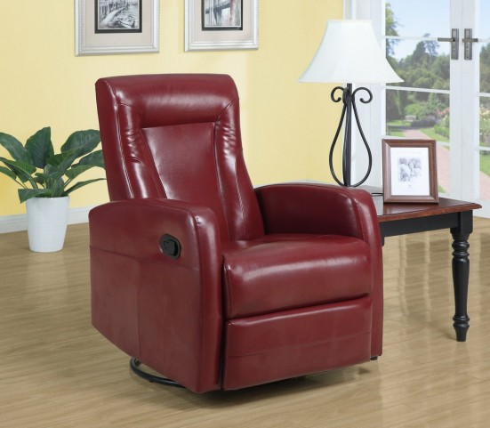 Red Swivel Rocker Recliner