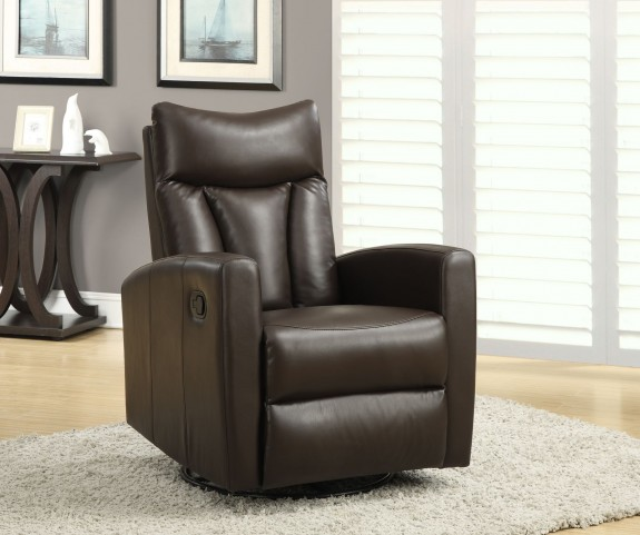 Dark Swivel Glider Recliner