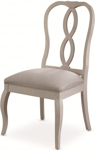 White Peony Blanc White Fern Side Chair