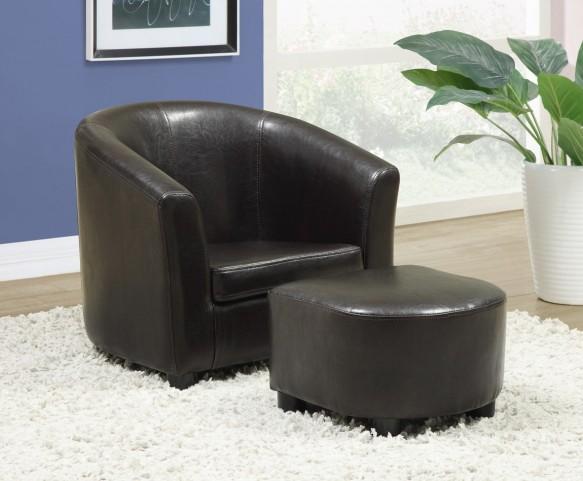 8103 Dark Brown Juvenile Chair and Ottoman