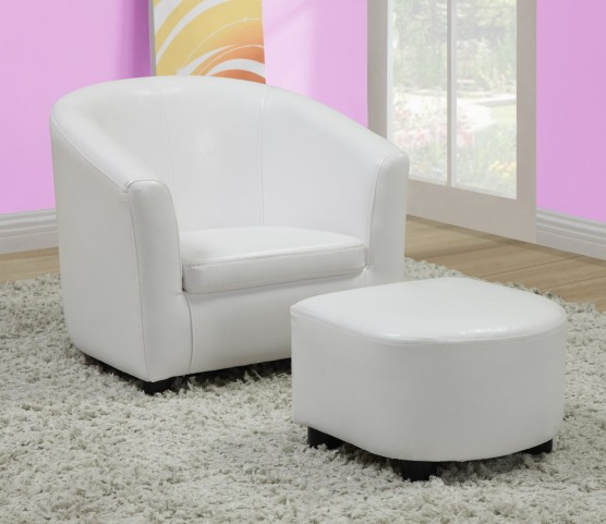 8104 White Juvenile Chair and Ottoman