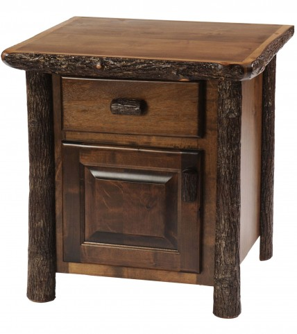 Hickory Espresso Enclosed Nightstand