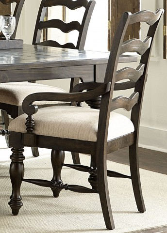 Southern Pines Bark Ladder Back Arm Chair Set of 2