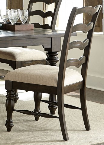 Southern Pines Bark Ladder Back Side Chair Set of 2