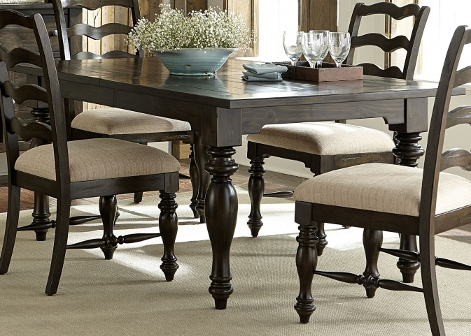 Southern Pines Bark Extendable Rectangular Leg Dining Table