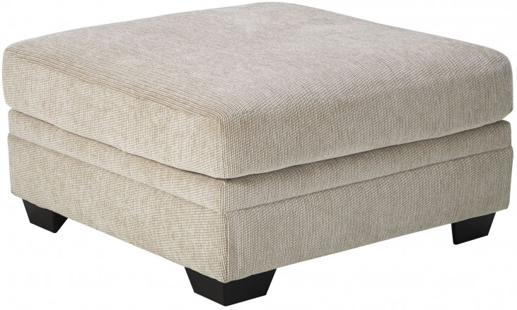 Ameer Sand Oversized Accent Ottoman