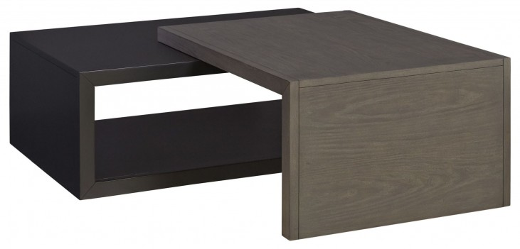 Deegan Coffee Table with Pedestal Boxes