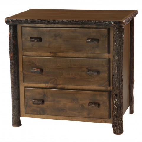 Hickory Espresso Value Three Drawer Chest