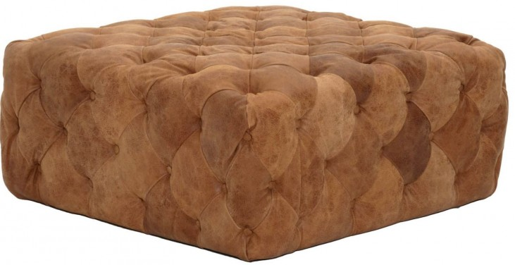 Patina Chestnut Brandy Ottoman