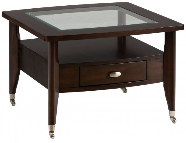 Montego Merlot Square Cocktail Table