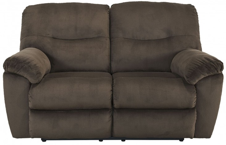 Slidell Chocolate Reclining Loveseat