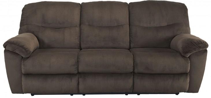 Slidell Chocolate Reclining Sofa