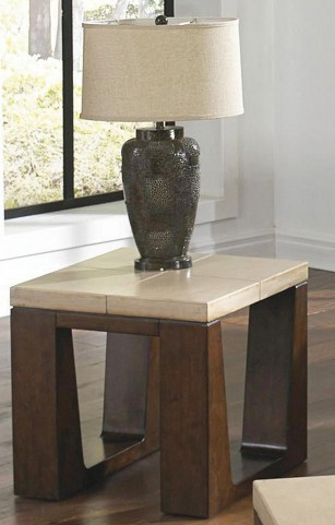 Cement Top End Table