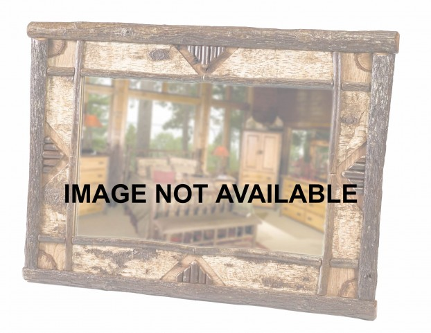 "Hickory 32"" Without Glass Adirondack Mirror"