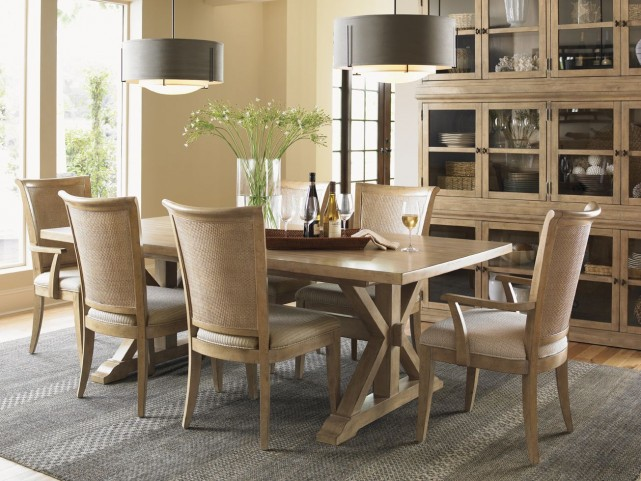 Monterey Sands Walnut Creek Extendable Rectangular Dining Room Set