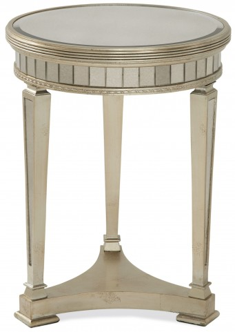 Borghese Mirrored Round End Table