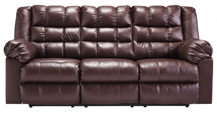 Brolayne DuraBlend Brown Reclining Sofa