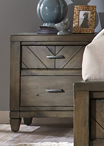 Modern Country 2 Drawer Nightstand