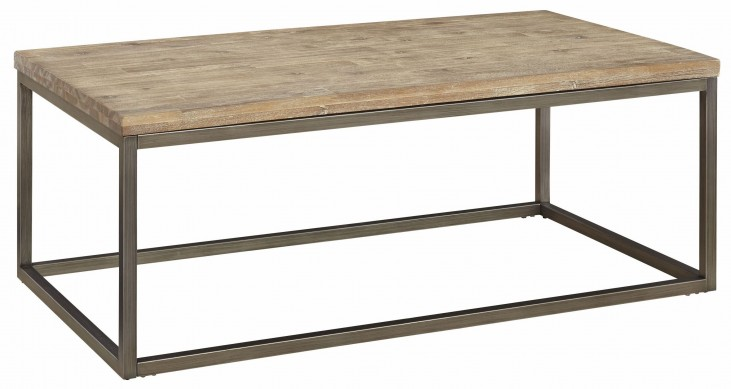 Alana Acacia Wood Top Rectangular Coffee Table
