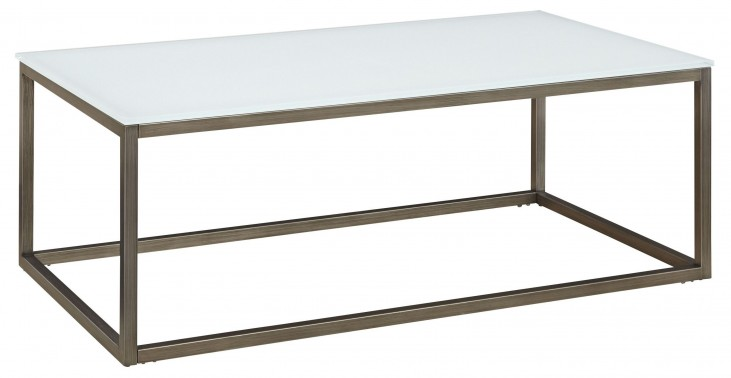 Alana Frosted Glass Top Rectangular Coffee Table
